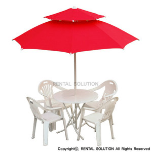 Parasol Table Set_red